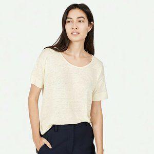 Everlane The Linen Short Sleeve Tee Shirt Basic